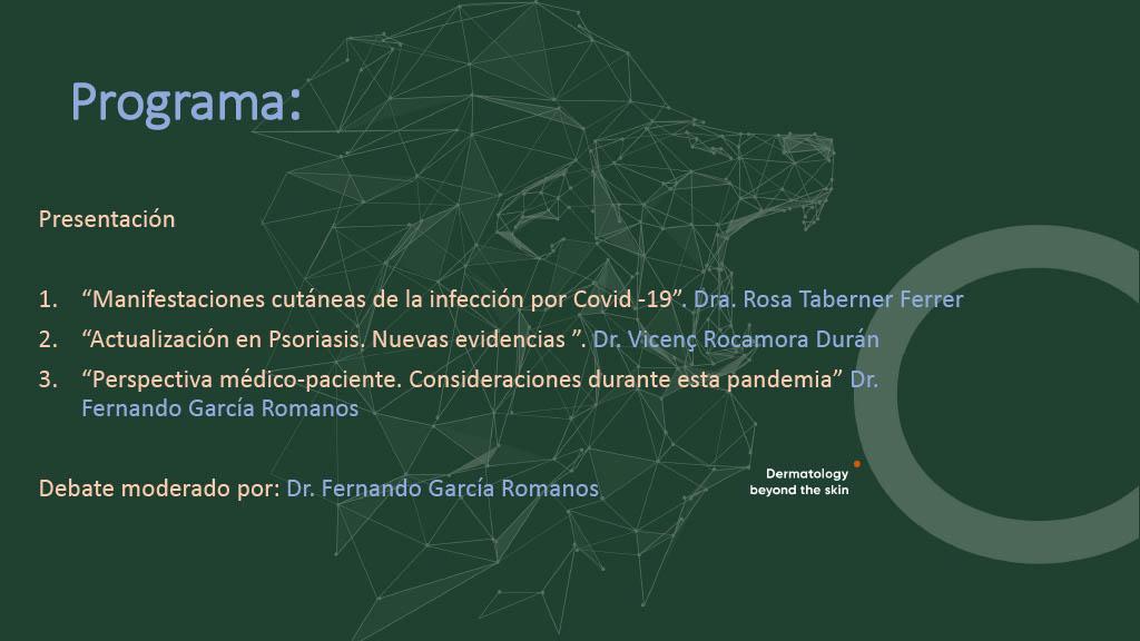"""""""ACTUALIZACIÓN DERMATOLÓGICA EN TIEMPOS DE COVID-19. PSORIASIS: NUEVAS EVIDENCIAS"""""""
