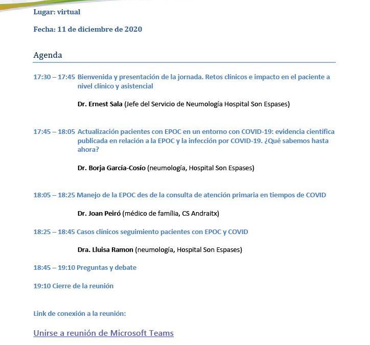 Jornada Balear de actualización de pacientes con EPOC en un entorno de pandemia