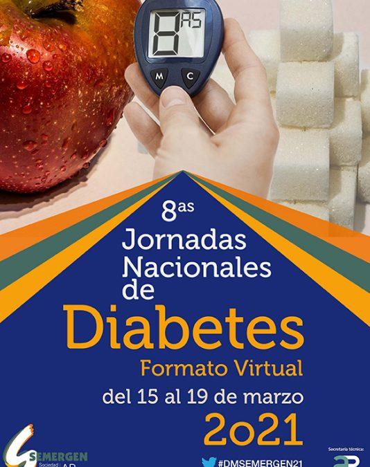 Jornadas Nacionales de Diabetes SEMERGEN del 15 al 19 de marzo en formato virtual