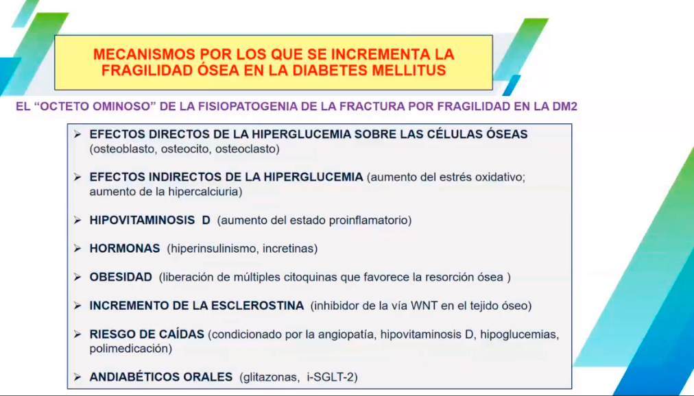 El riesgo de fractura por alteración de la densidad ósea, una amenaza para el paciente con diabetes tipo 2